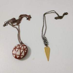 Jewelry - 2 necklaces. One of kind necklaces